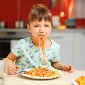 comer spaguettis con ortodoncia