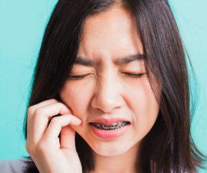molestias al llevar ortodoncia